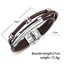 New Fashion Brown Leather Bracelet for Men