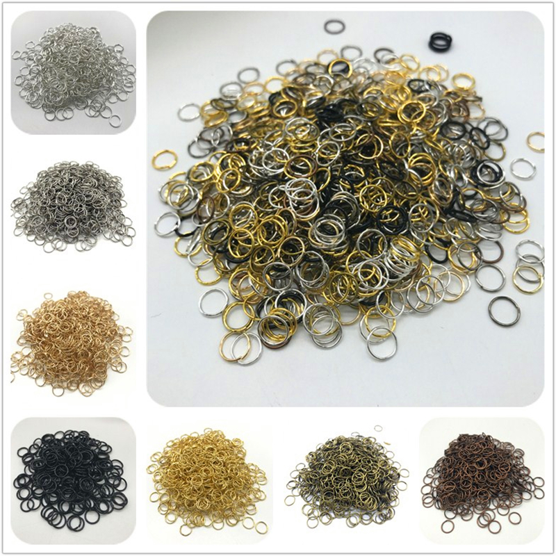 4mm 6mm 8mm 10mm Metal Open Jump Rings Split Rings Connectors For Diy Jewelry Making