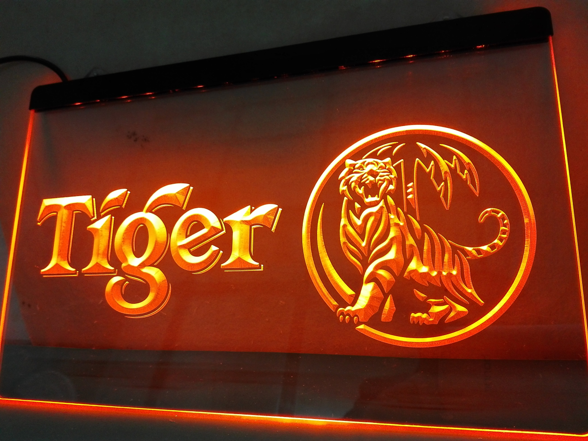LE178- Tiger Beer Happy Hour Bar LED Neon Light Sign home decor crafts