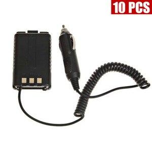 10 шт. автомобильное зарядное устройство для BAOFENG Walkie Talkie UV5R UV-5R 5RA 5RB 5RC 5RD 5RE 5RE Plus двухстороннее радио