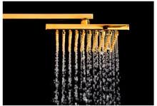 Foyi Antique Brass Wall Mounted Mixer Valve Rainfall Shower Faucet Complete Sets 8 Brass Shower Hand Shower gold  Hose 1.5M foyi brand antique rain shower faucets set with hand shower brass wall mounted shower mixer for bathroom