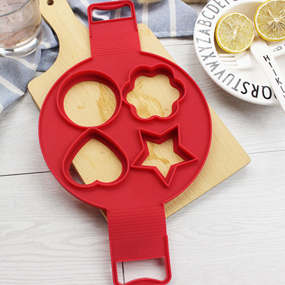 Nonstick Pancake Maker 4 Holes Egg Ring Maker Perfect Pancakes Cheese Egg Cooker Mold Baking Accessories Kitchen Tools