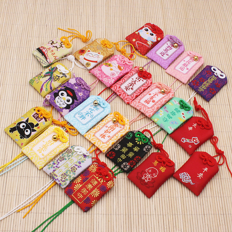 1pcs Traditional Omamori Night Owl Maneki Neko Phoenix Dispel Misfortune Lucky Omamori Key Holder Bag Pendant Cute Gift Present