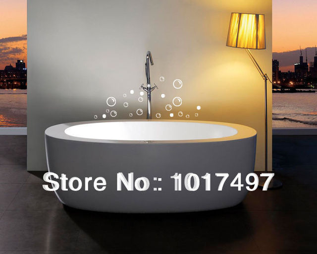 Free Shipping 25 Soap Bubbles Bathroom Tile Stickers Funny Waterproof Vinyl Wall Art Decor