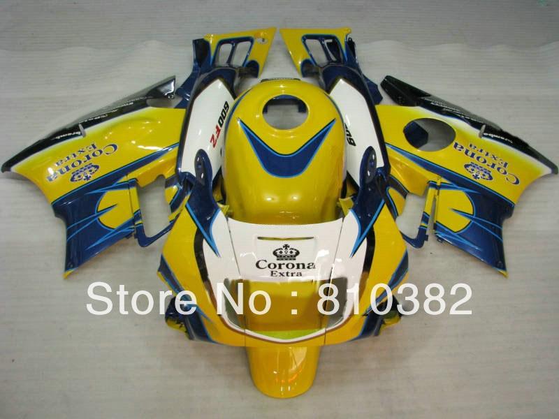 ABS Fairing kit for HONDA CBR600F2 CBR600 CBR600 F2 1991 1992 1993 1994 91 92 993 94 yellow blue Motorcycle Fairings set HB55