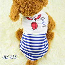 HOT Selling Summer Pet Dog Cat Product Cotton Shirt Vest Clothes Costumes for Small Summer dog