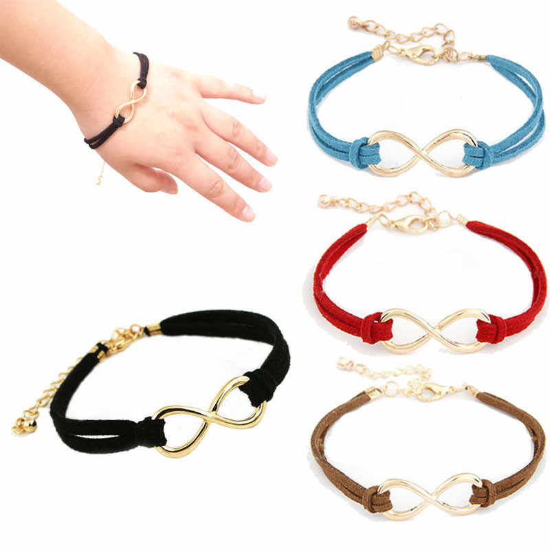 Stylish Wild Bracelet 1PC Women Multilayer Bracelet Wrap Leather Infinity Symbol Wristband Lady Jewelry High Quality Gifts L0330