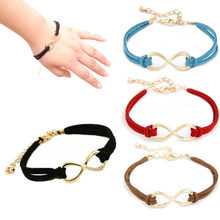 Stylish Wild Bracelet 1PC Women Multilayer Bracelet Wrap Leather Infinity Symbol Wristband Lady Jewelry High Quality Gifts L0330(China)