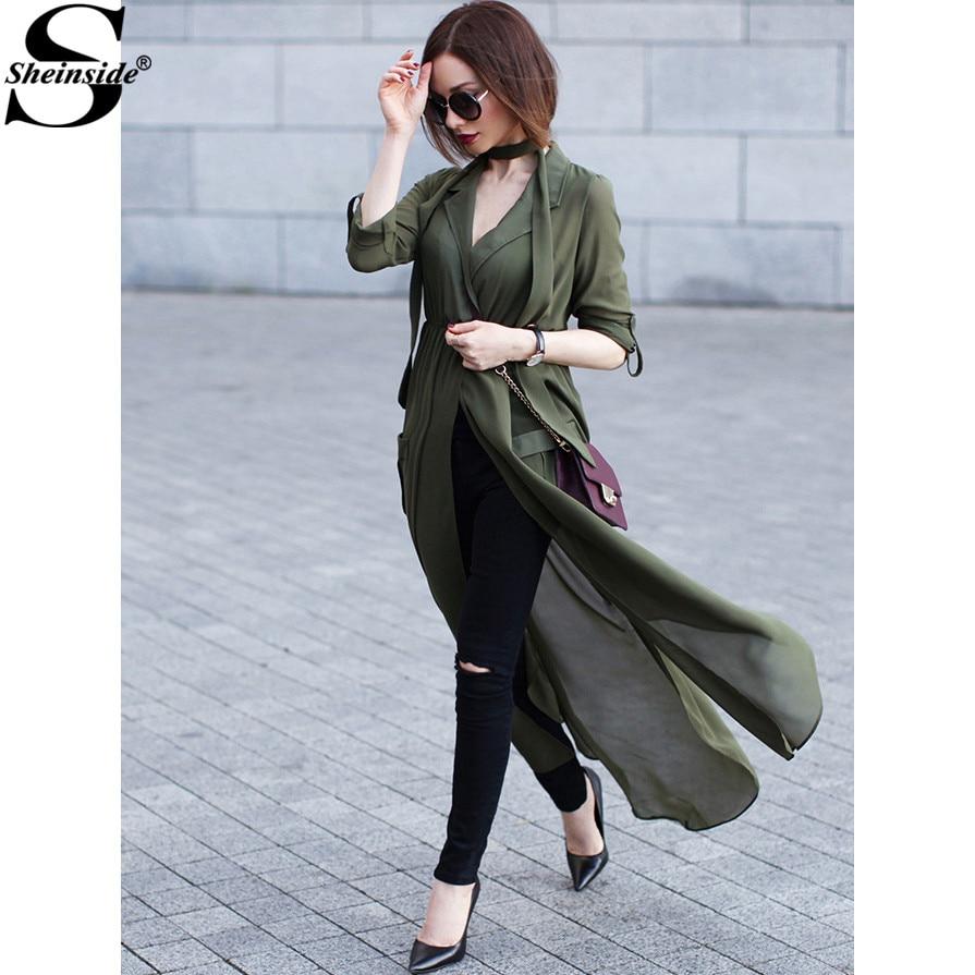 Sheinside high street sexy nuevo estilo coreano marca de moda verde profundo cue