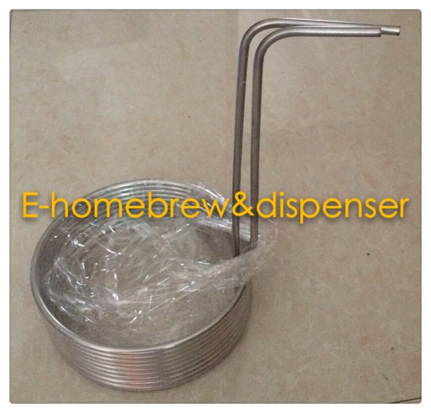 Home Brew food grade 304 stainless steel beer Immersion Wort Chiller 26 feet in Beer Brewing from Home Garden