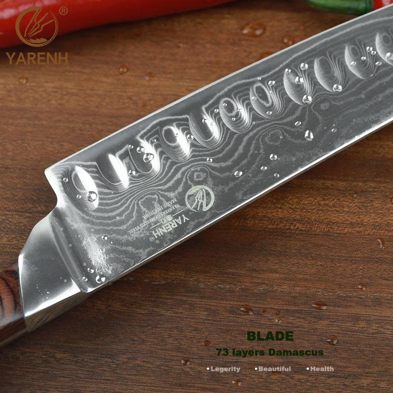 Yarenh 7 Santoku Messer Mit Pakka Holz Griff Beste Kuche Messer