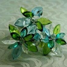 Зеленый синий акриловый бисером кольцо для салфеток, держатель для салфеток