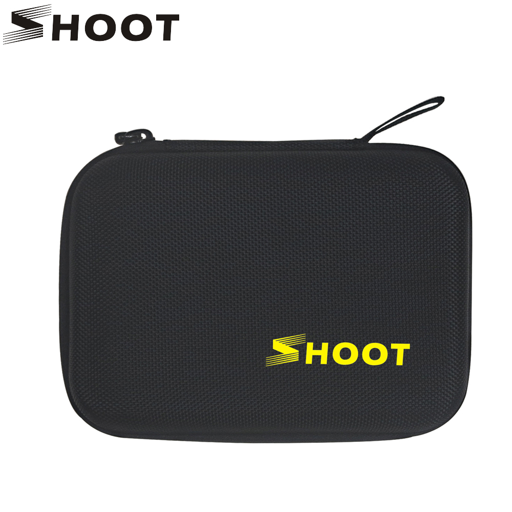 SHOOT Small Size EVA Portable Case voor GoPro Hero 6 5 7 4 Zwart Xiaomi Yi 4K Sjcam Sj4000 Eken Action Camera Collectebus Tas