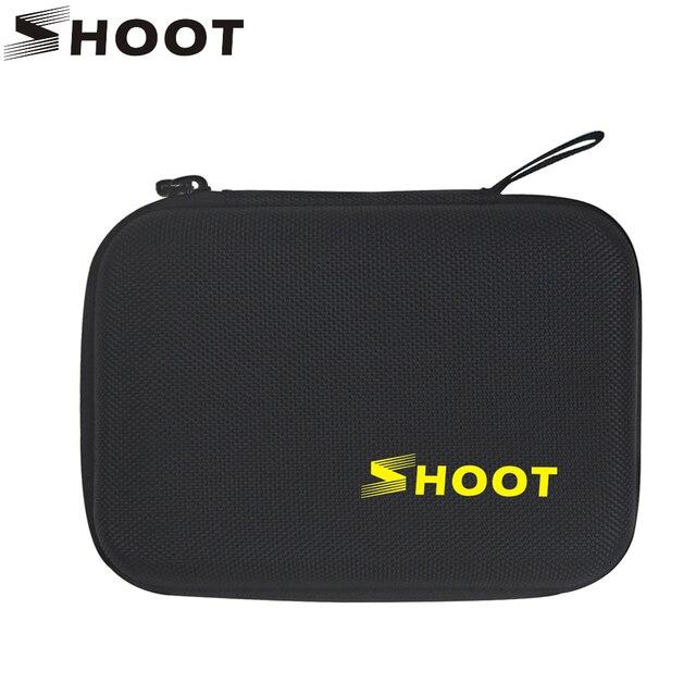 Shoot tamanho pequeno eva caso portátil para gopro hero 9 8 7 5 preto xiao yi 4k dji osmo sjcam eken ação câmera coleção caixa saco