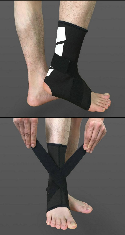 bandagem esportes segurança tornozelo cinta almofada futebol