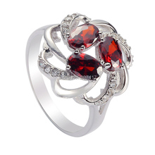 Eulonvan best sell Red Cubic Zirconia 925 sterling silver rings for Noble women career anel alibaba-express S-3736 size 6 7 8 9