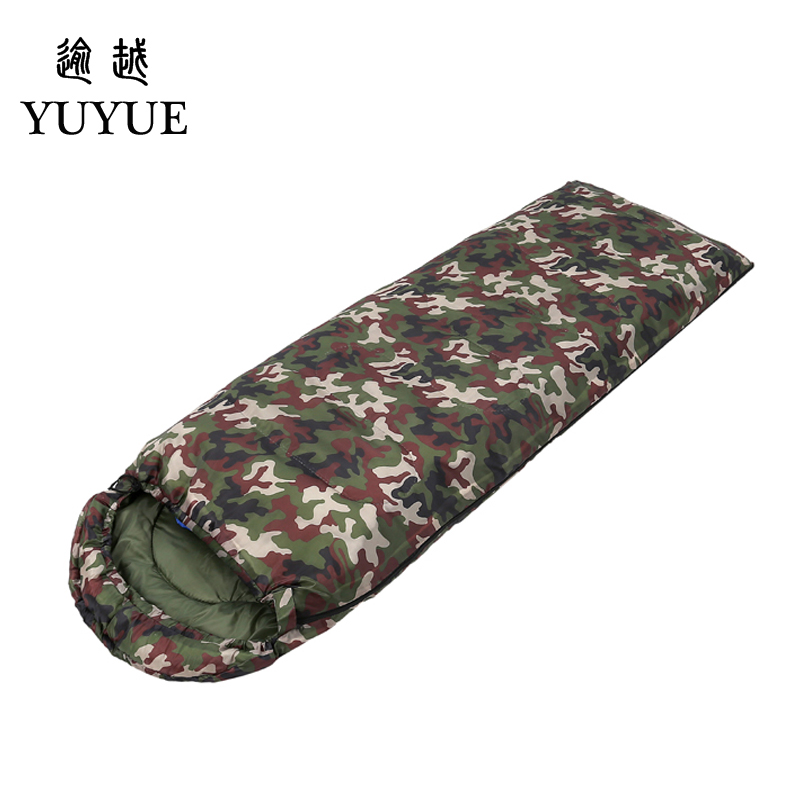 Outdoor military 3 season camouflage sleeping bag cotton for camping tent envelope type equipment for a hundred sleeping bag 0