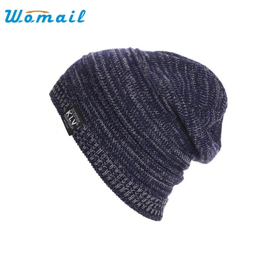 2017 Winter Casual Cotton Knit Hats For Women Men Beanie Hat Crochet Slouchy Oversized Ski Cap winter hat warm beanie cotton skullies for women men hats crochet slouchy knit baggy beanies cap oversized ski toucas gorros