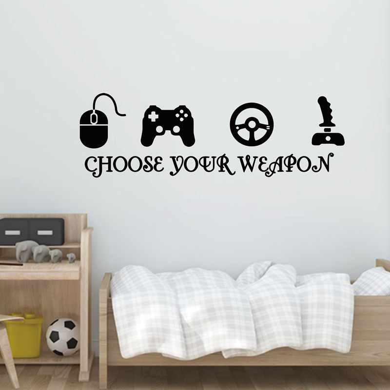 YOYOYU 40 colors Vinyl wall sticker Gamer Removeable Wall decal Bedroom saloon Home Decor for kid gaming poster ZX108