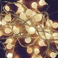 10 M led luzes cordas com bola 80led AC220V iluminação decoração da lâmpada Festival de férias luzes De Natal ao ar livre