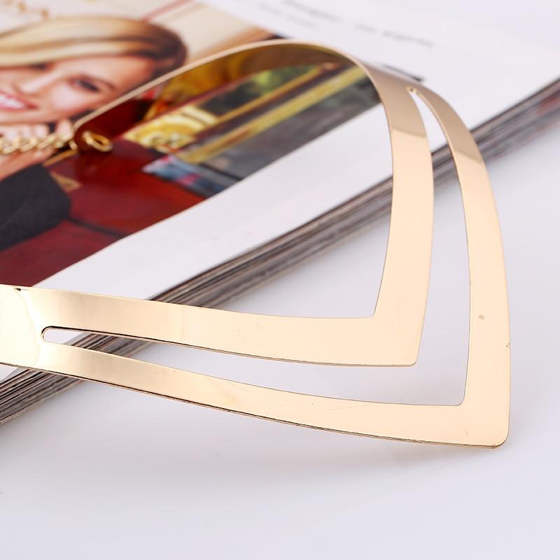 LZHLQ Geometrische holle metalen draaimomenten Dames trendy - Mode-sieraden - Foto 4
