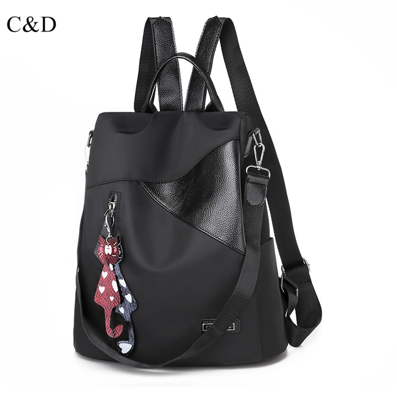 C&D Luxury Womens Shoulder Bag New Backpack Leisure Pure Soft Size Bag GirlC&D Luxury Womens Shoulder Bag New Backpack Leisure Pure Soft Size Bag Girl