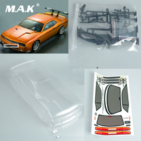 DIY Transparent 190mm 1:10 PC BODY SHELL For Dodge viper SRT8 RC Model Car with decal Accessory
