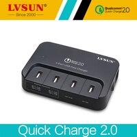 LVSUN Charge Rapide 2.0 58 W 4 Port USB Rapide Chargeur De Voiture pour Samsung Galaxy S6 S4 iPhone 6 S 5s 5c HUAWEI MEIZU Nexus HTC
