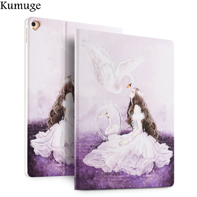 Case for New iPad Pro 12.9 2017 3D Releif Floral Tablet Cover Case for iPad Pro 12.9 inch A1670 A1671 Smart Stand Funda Coque e reader case for onyx boox i63ml maxwell case cover coque shell funda hulle custodie