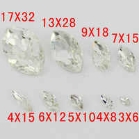 Crystal Clear Color Navette Glass Crystal Fancy Stone 5*10,7*15mm,9*18mm,13*27,4*15mm,17*32mm Marquise Horse Eye Crystals