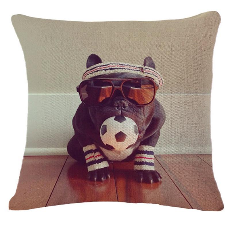 Bull Terrier Pug Puppies Dog Pouf Pilow ბამბის - სახლის ტექსტილი - ფოტო 4