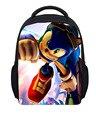 Sonic the hedgehog FORUDESIGNS 2016 nuevo diseño de la historieta bolsas mochilas niños bolsas para niños de impresión del cabrito mochilas infantiles
