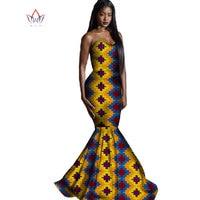 Africa Style Clothing Wedding Vestidos Dress for Women Plus Size 6xl Bazin Riche Africa Wax Print Long Mermaid Dress WYD5