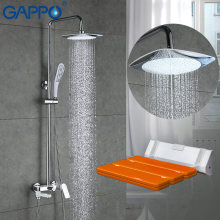 GAPPO Shower Faucets bath faucet mixer shower head Wall Mounted Shower Seats Bath Stool toilet Shower System(China)