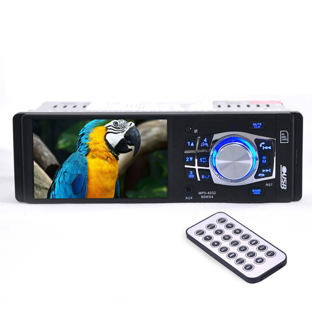 High-quality 4.1 Inch HD TFT Screen Car Radio Stereo Bluetooth 1 din size Support Rear Camera SD/USBMP3/ MP4/MP5 Player
