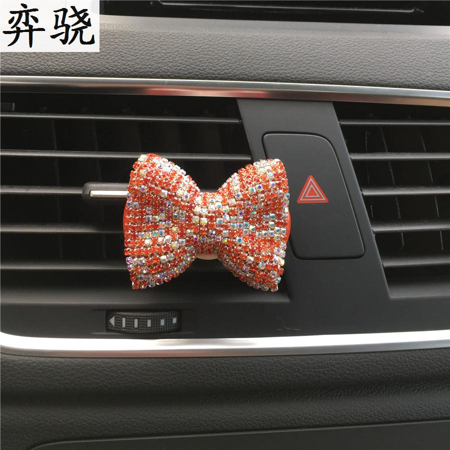 Colorful bow tie Ladies car perfume clip Ornament Exquisite car styling bowknot Air conditioner perfume shaped car air freshener