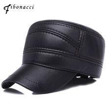 Fibonacci invierno oreja plana Sombreros militares Faux cuero papá sombrero (China) 55684aee360