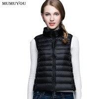 Women Casual Puffer Waistcoat Winter Vest Lightweight Down Coat Sleeveless Jacket Padded Stand Collar Outerwear Gilet 912 723