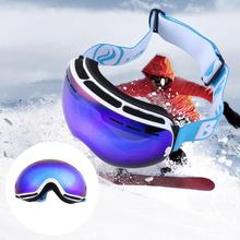 Unisex Double Layer Outdoor Anti-Fog Skiing Snowboard Sports Goggles Winter Windproof Skiing Skating Eyewears Glassess