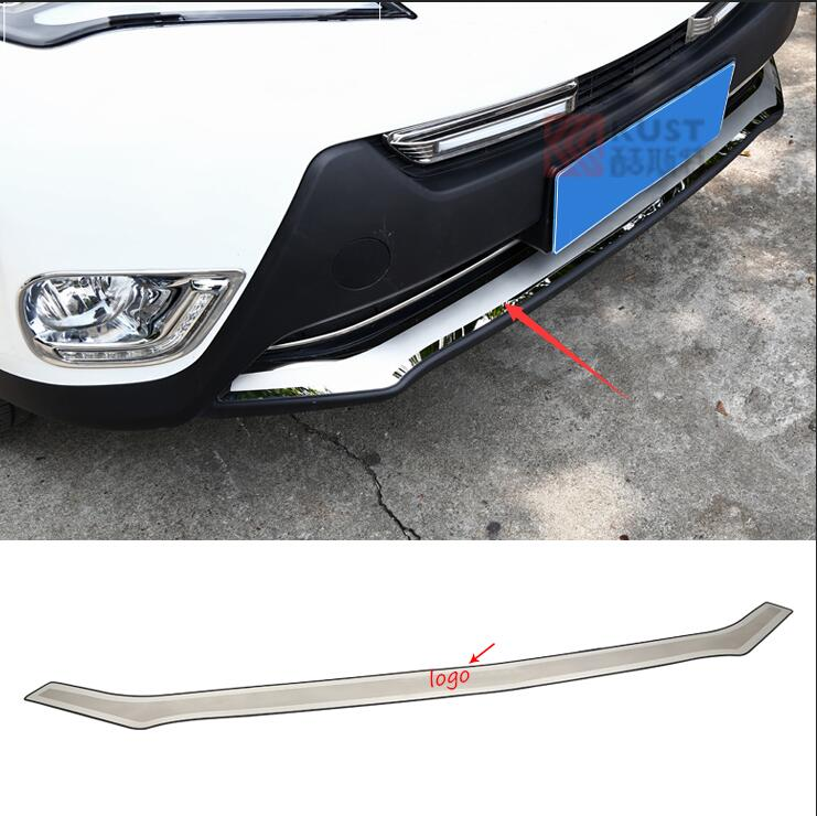 Car styling For Toyota RAV4 2014 2015 High quality stainless steel Front Grille Around Trim Racing Grills Trim stainless steel door side body garnish molding cover trim for toyota rav4 2014 2017 exterior decor strip car styling accessories