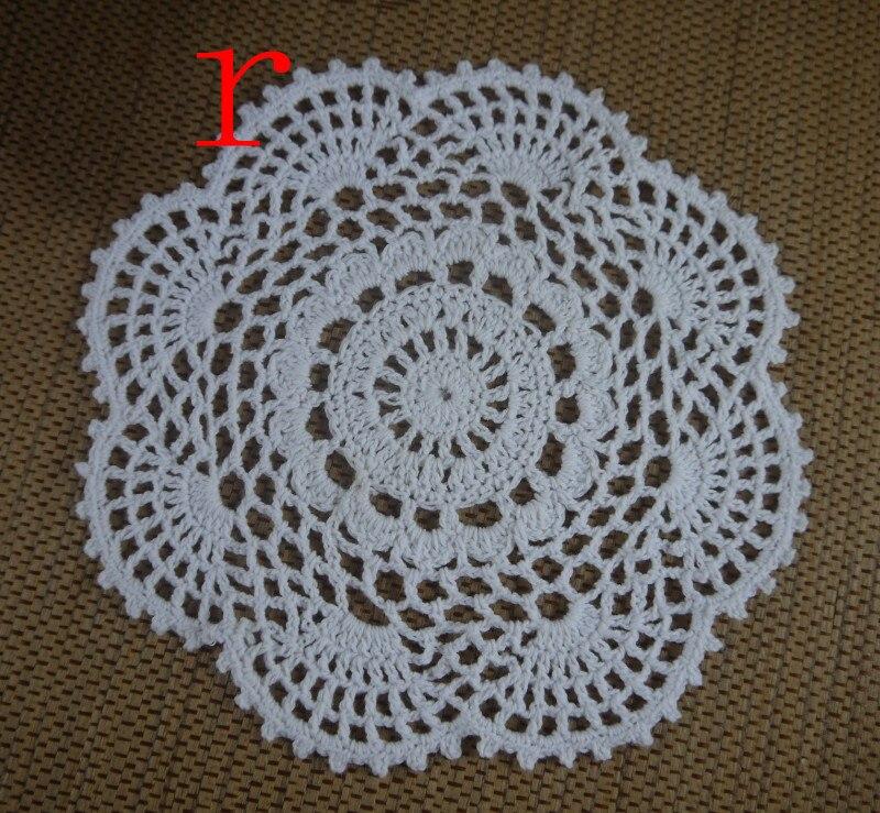 Free Shipping Wholesale Round Crochet Pattern Doily Handmade Crochet