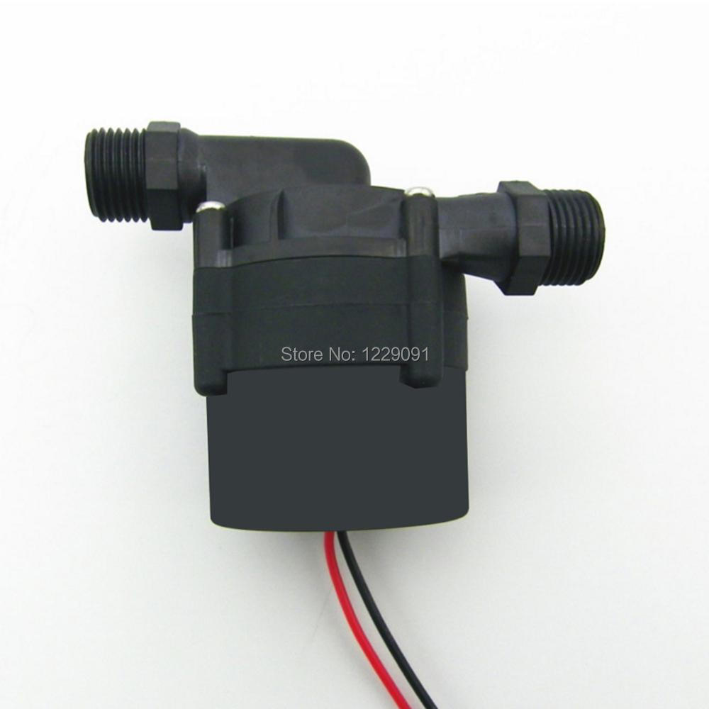 1pcs 60w DC 24V 15M water heater booster Pump with brushless Motor Water Pump circulation pump submersible 2pcs small solar submersible water pump 1200lph 15m high lift 5 24v dc brushless dc motor driven for hot water circulation