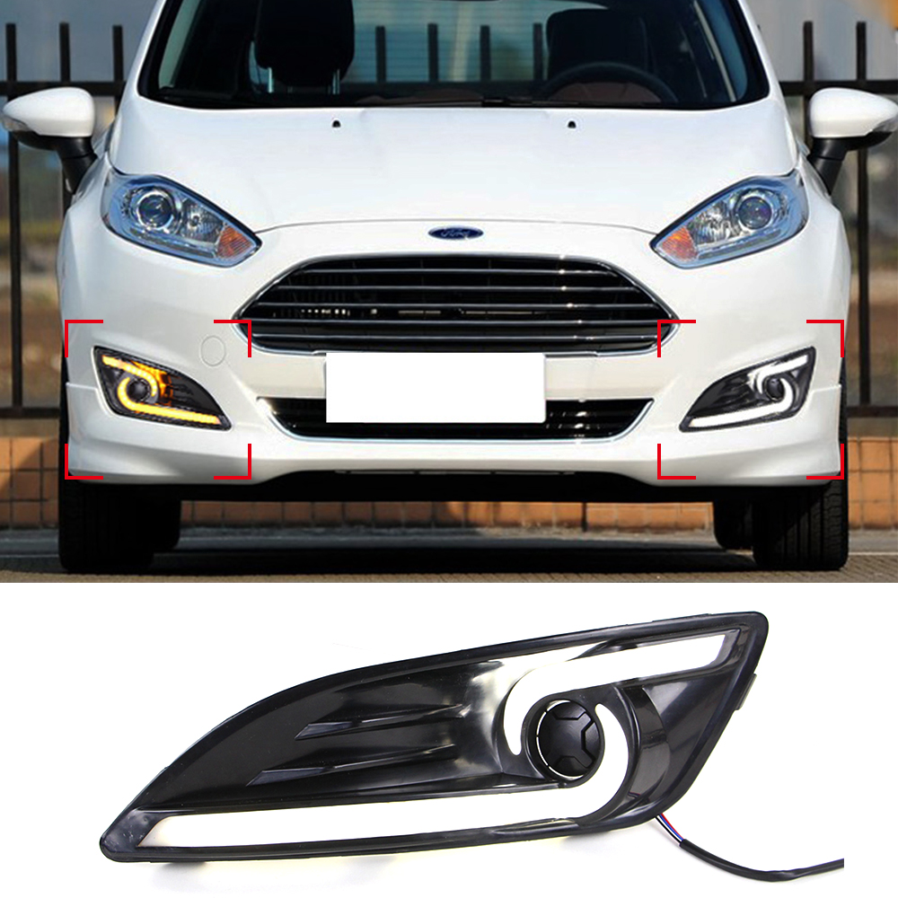 Car Drl Kit For Ford Fiesta 2013 2014 Led Daytime Running