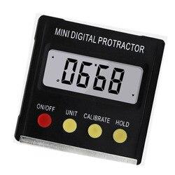 Mini inclinómetro Digital transportador de 360 grados caja de nivel impermeable buscador de ángulo medida bisel caja goniómetro imán