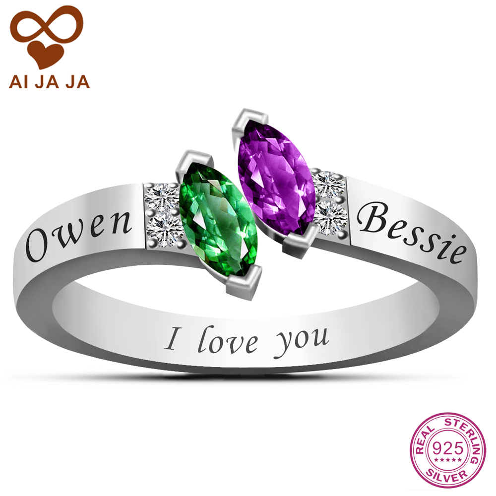 Online Get Cheap Birthstone Promise Rings -Aliexpress.com ...