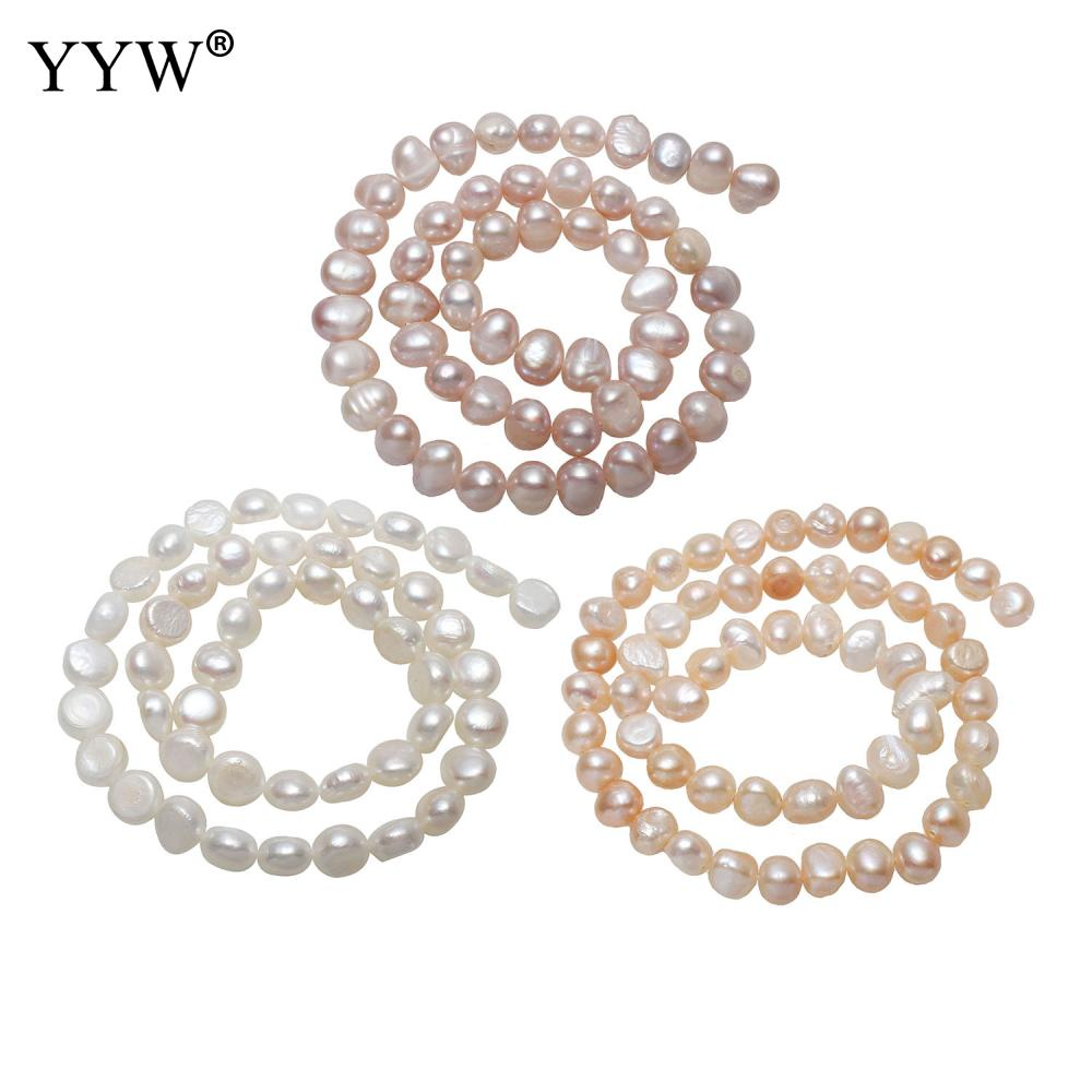 """H11//1 White Glass Faux Pearl Beads Round 10mm Sold on 15.5/"""" Strand"""