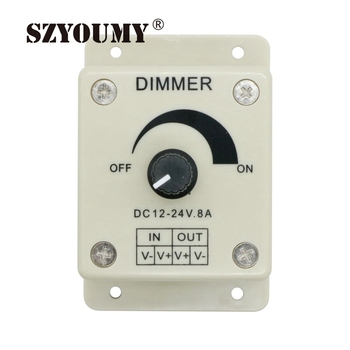 SZYOUMY LED Light Protect Strip Dimmer DC 12V 8A Adjustable Brightness Controller For LED Strip Light Lamp Accessories