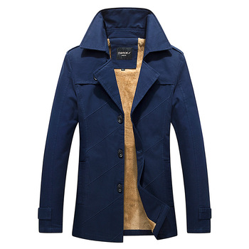 2017 Brand New Winter Coat male Parka Men Thick Warm imitation wool Liner Plus Size M-5XL Winter Jacket Men