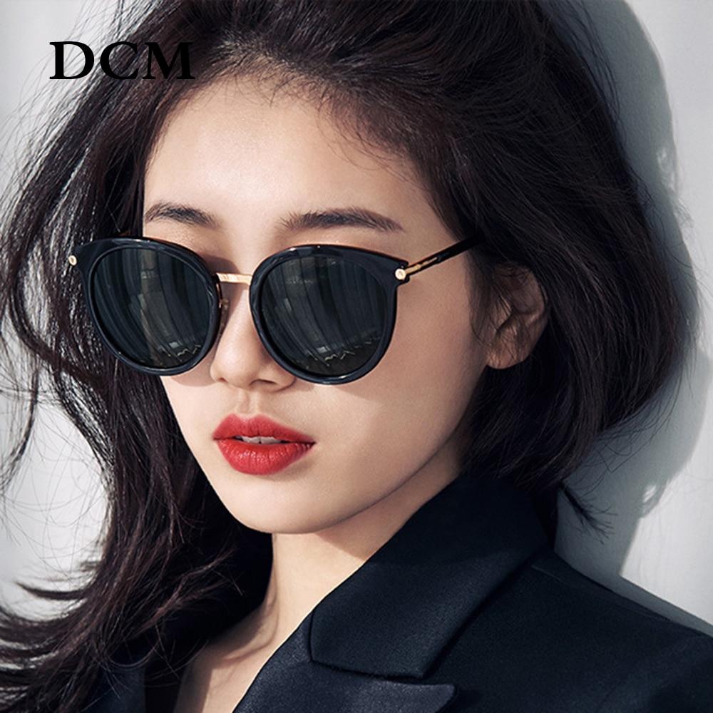 DCM Round Vintage Sunglasses Women Men Fashion Mirror Sun Glasses Female Shades Retro Eyewear Oculos De Sol UV400