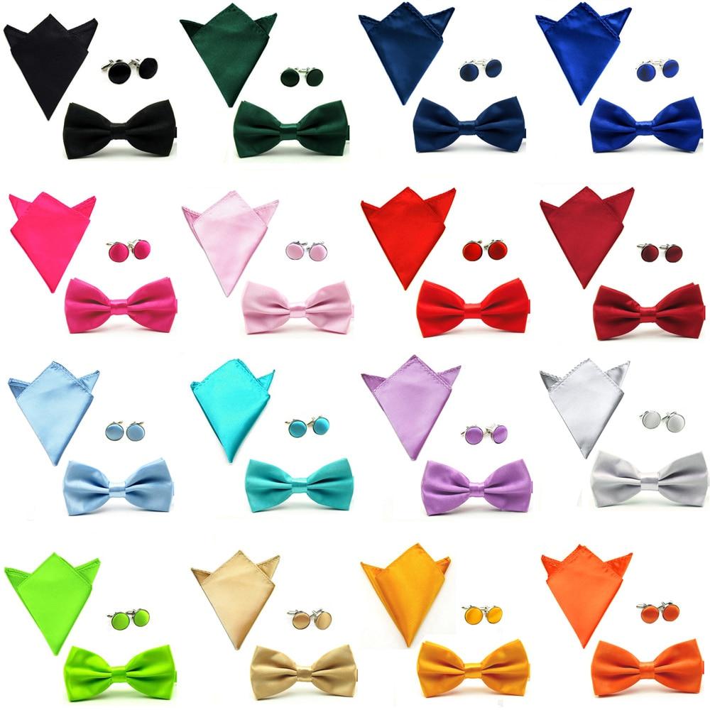 Emerald Green Boys Bow Tie Cufflinks /& Pocket Square//Hanky//Handkerchief Set *UK Seller*